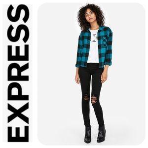 Express Plaid Flannel Shirt - NWT
